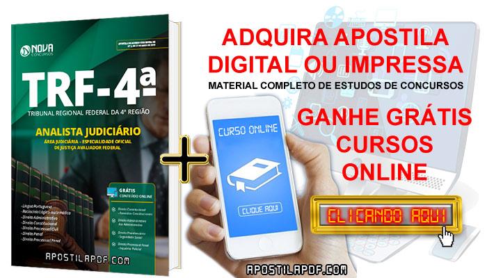 Apostila TRF 4 2019 Técnico Judiciário Área Administrativa PDF e Impressa Cursos Online Grátis