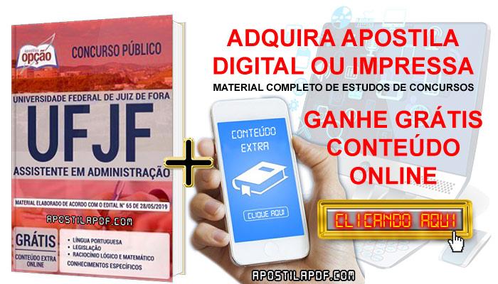 Apostila Concurso UFJF 2019 PDF e Impressa Assistente em Administração Conteúdo Online Grátis