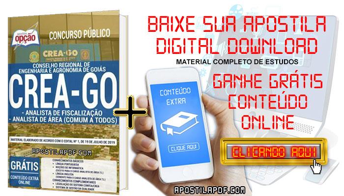 Baixar Apostila Concurso CREA GO 2019 PDF Analista de Área e Analista de Fiscalização