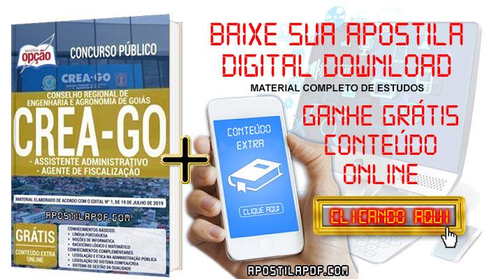 Baixar Apostila Concurso CREA GO 2019 PDF Assistente Administrativo e Agente de Fiscalização