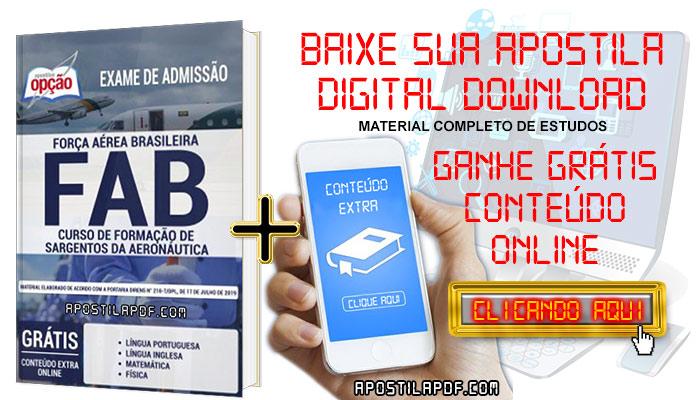 Baixar Apostila FAB 2019 PDF Curso de Sargentos da Aeronáutica