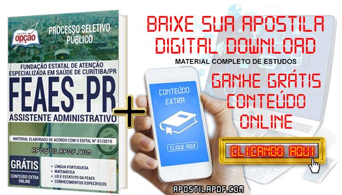 Baixar Apostila Concurso FEAES 2019 PDF Assistente Administrativo