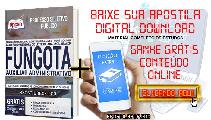 Baixar Apostila Concurso FUNGOTA 2019 PDF Auxiliar Administrativo