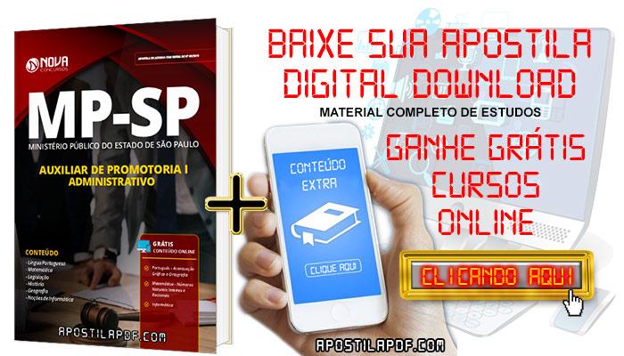 Baixar Apostila MP SP 2019 Auxiliar de Promotoria I Administrativo PDF Grátis Cursos Online