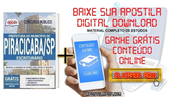Baixar Apostila Concurso Prefeitura de Piracicaba 2019 PDF Escriturário