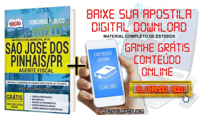 Baixar Apostila Concurso Prefeitura de São José dos Pinhais 2019 PDF Agente Fiscal