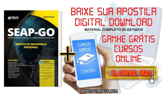 Baixar Apostila Concurso SEAP GO 2019 Agente de Segurança Prisional PDF e Impressa Grátis Cursos Online