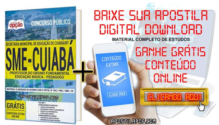Baixar Apostila Concurso SME Cuiabá 2019 PDF Professor do Ensino Fundamental Educação Básica Pedagogo