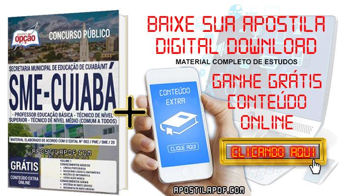 Baixar Apostila Concurso SME Cuiabá 2019 PDF Professor Educação Básica, Técnico de Nível Superior e Técnico de Nível Médio