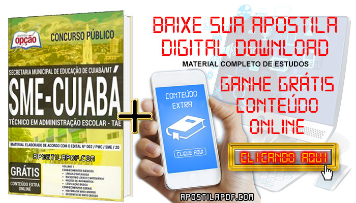 Baixar Apostila Concurso SME Cuiabá 2019 PDF Técnico em Administração Escolar