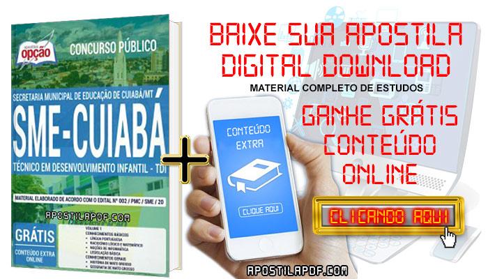 Baixar Apostila Concurso SME Cuiabá 2019 PDF Técnico em Desenvolvimento Infantil