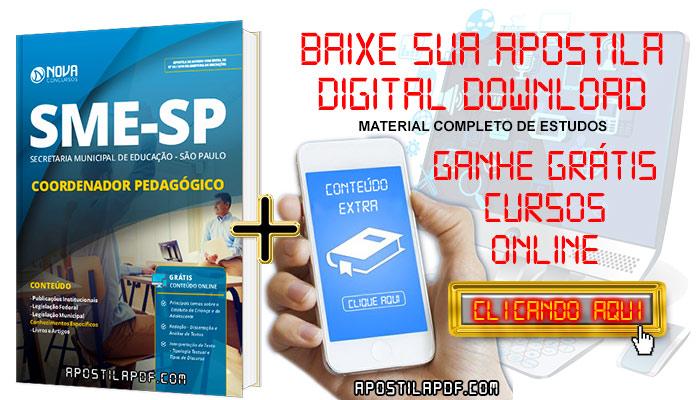 Apostila SME SP 2019 Coordenador Pedagógico PDF e Impressa Grátis Cursos Online
