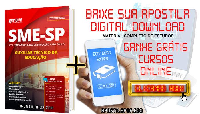 Apostila SME SP 2019 Auxiliar Técnico de Educação PDF e Impressa Grátis Cursos Online