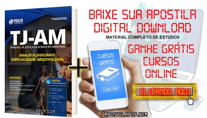 Baixar Apostila TJ AM 2019 Analista Judiciário Arquivologia PDF Grátis Cursos Online