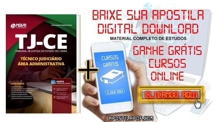 Baixar Apostila Concurso TJ CE 2019 Técnico Judiciário Área Administrativa PDF e Impressa Grátis Cursos Online