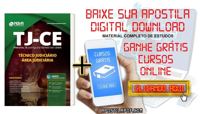 Baixar Apostila Concurso TJ CE 2019 Técnico Judiciário Área Judiciária PDF e Impressa Grátis Cursos Online