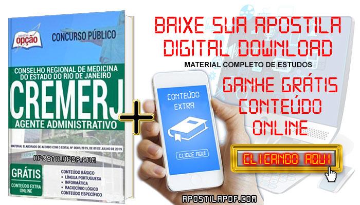 Baixe Apostila CREMERJ 2019 PDF Agente Administrativo