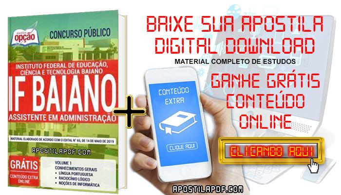 Baixe Apostila Concurso IF Baiano 2019 PDF Assistente em Administração