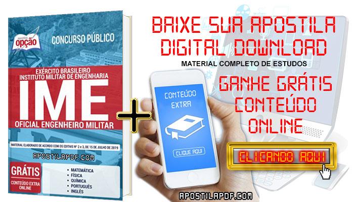 Baixe Apostila Concurso IME 2019 PDF Oficial Engenheiro Militar