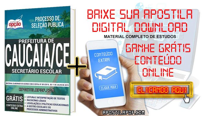 Baixar Apostila Concurso Prefeitura de Caucaia 2019 PDF Secretário Escolar