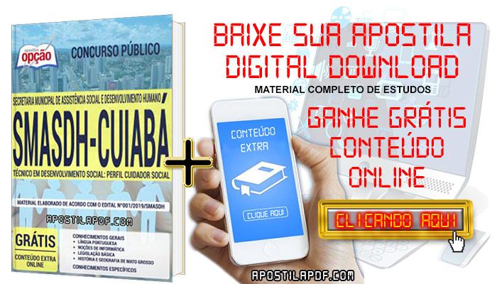 Baixar Apostila Concurso SMASDH 2019 PDF Cuidador Social
