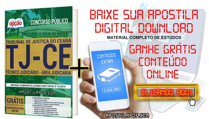 Baixe Apostila Concurso TJ CE 2019 PDF Técnico Judiciário Área Judiciária