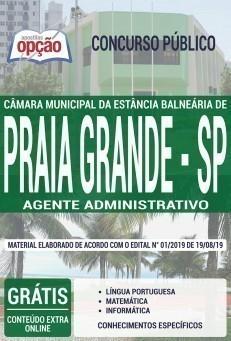 Apostila Câmara de Praia Grande 2019 Agente Administrativo PDF Download Digital e Impressa
