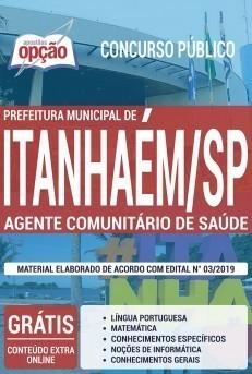 Apostila Concurso Prefeitura de Itanhaém 2019 Agente Comunitário de Saúde PDF Download Digital e Impressa