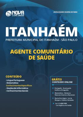 Apostila Prefeitura de Itanhaém 2019 Agente Comunitário de Saúde Grátis Cursos Online