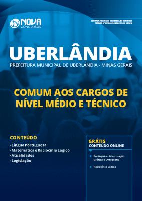 Apostila Prefeitura de Uberlândia 2019 Comum aos Cargos de Nível Médio e Técnico Grátis Cursos Online