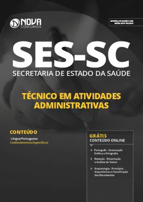Apostila SES SC 2019 Técnico em Atividades Administrativas Grátis Cursos Online