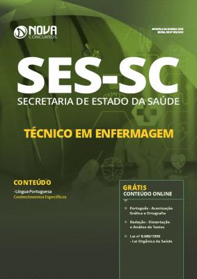 Apostila SES SC 2019 Técnico em Enfermagem Grátis Cursos Online