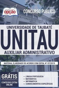 Apostila UNITAU 2019 Auxiliar Administrativo PDF Download Digital e Impressa