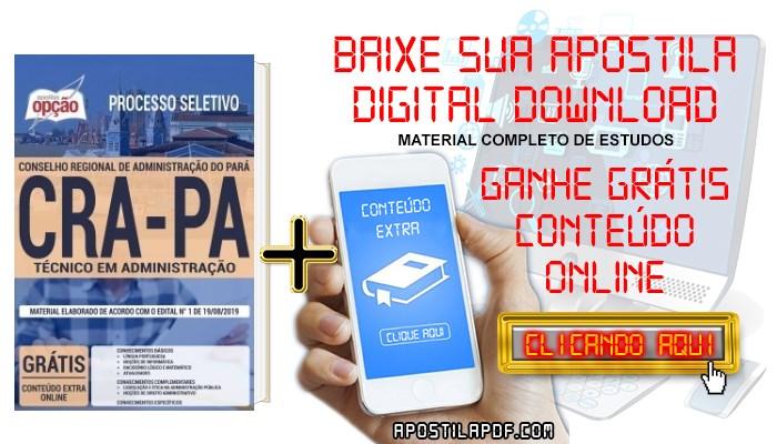 Apostila CRA PA 2019 PDF Técnico em Administração