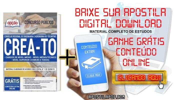 Apostila CREA TO 2019 PDF Cargos de Nível Médio e Superior