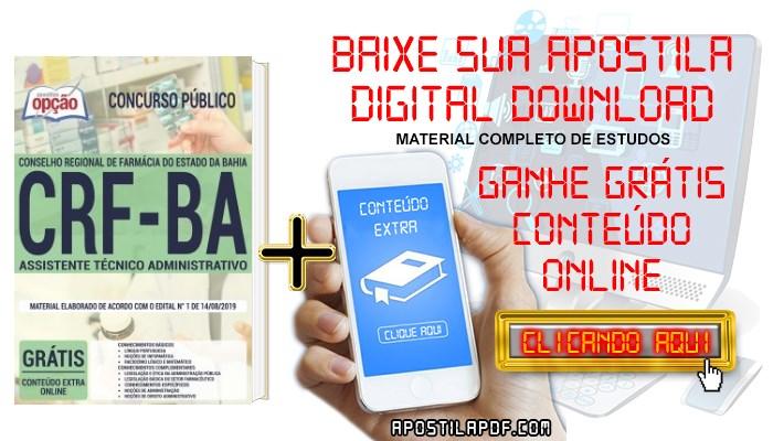 Apostila CRF BA 2019 PDF Assistente Técnico Administrativo