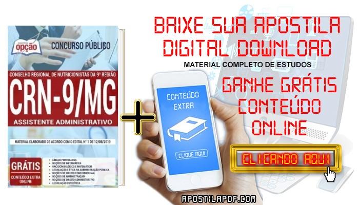 Baixar Apostila Concurso CRN 9ª Região 2019 PDF Assistente Administrativo