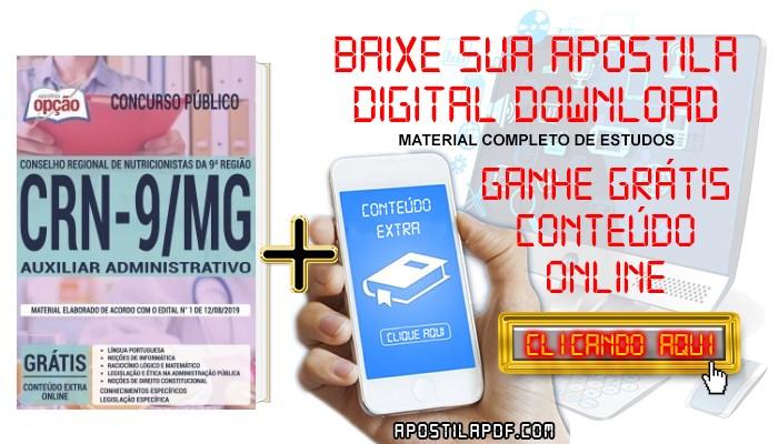 Baixar Apostila CRN 9ª Região 2019 PDF Auxiliar Administrativo