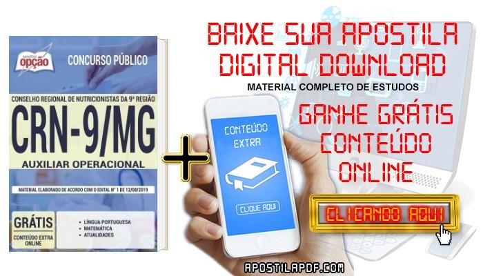 Baixar Apostila Concurso CRN 9ª Região 2019 PDF Auxiliar Operacional