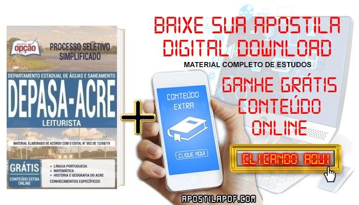 Baixar Apostila Concurso DEPASA AC 2019 PDF Leiturista