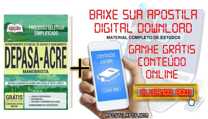 Baixar Apostila Concurso DEPASA AC 2019 PDF Manobrista