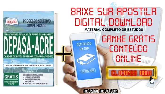 Baixar Apostila Concurso DEPASA AC 2019 PDF Cargos de Nível Superior