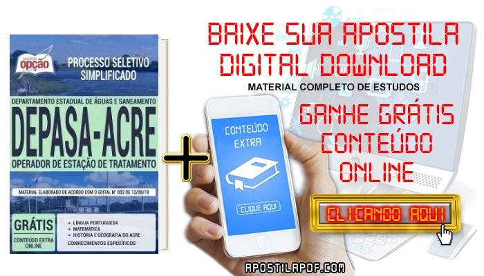 Apostila Concurso DEPASA AC 2019 PDF Operador de Estação de Tratamento