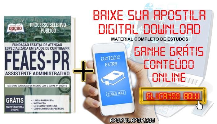 Baixar Apostila FEAES 2019 PDF Assistente Administrativo