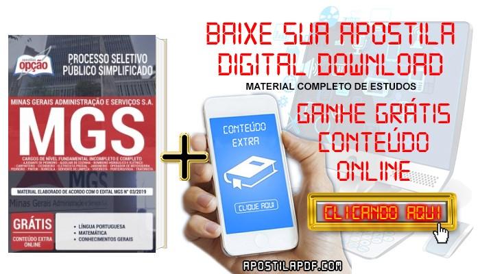Baixar Apostila Concurso MGS 2019 PDF Cargos de Nível Fundamental