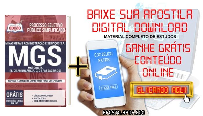 Baixar Apostila Concurso MGS 2019 PDF Cargos de Nível Médio