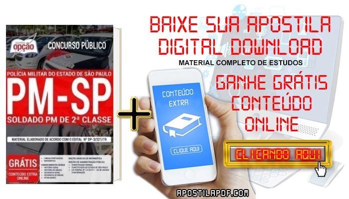 Baixar Apostila Concurso PM SP 2019 PDF Soldado PM de 2ª Classe