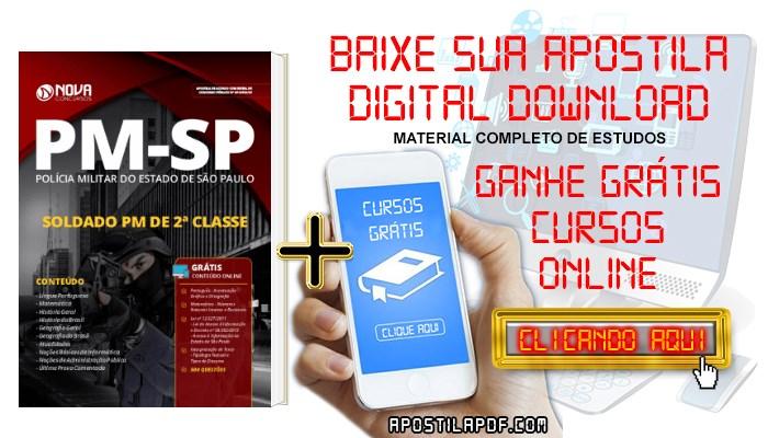 Baixar Apostila Concurso PM SP 2019 Soldado PDF e Impressa Grátis Cursos Online