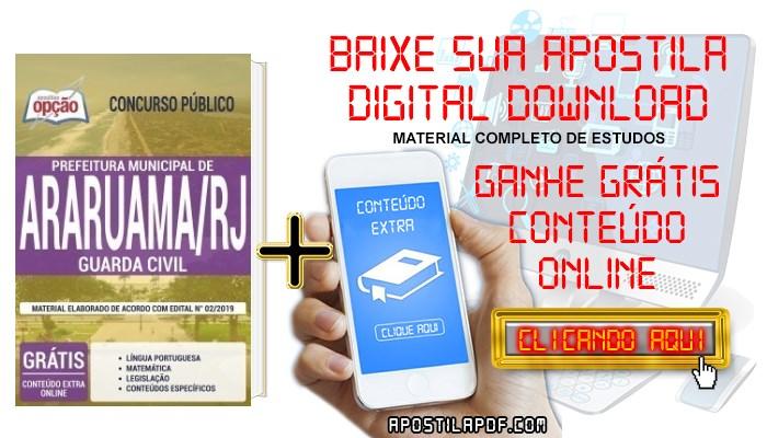 Baixar Apostila Concurso Prefeitura de Araruama 2019 PDF Guarda Civil