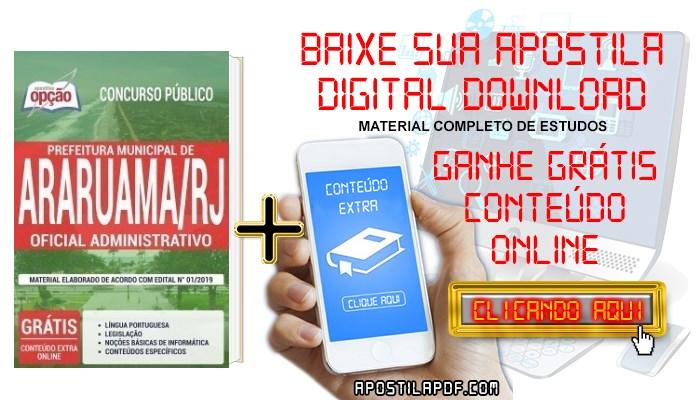 Baixar Apostila Concurso Prefeitura de Araruama 2019 PDF Oficial Administrativo